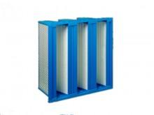 蓝色塑框W型组合式高效过滤器